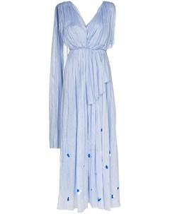 Платье макси асимметричного кроя со складками Vika gazinskaya