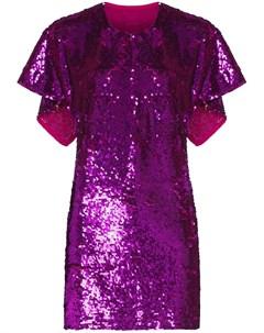 Платье кейп длины мини с пайетками Ashish