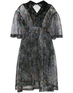 Платье с оборками на рукавах Henrik vibskov