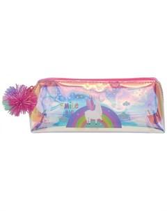 Пенал Лама на радуге с помпоном Mihi mihi