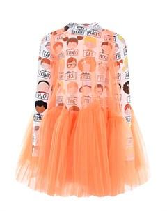Платье из хлопка и тюля детское Scrambled ego
