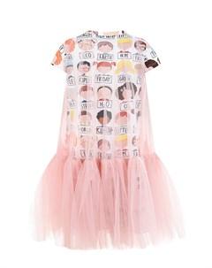 Платье футболка с принтом Дети детское Scrambled ego