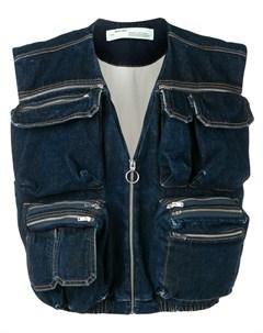 джинсовый жилет с карманами Off-white