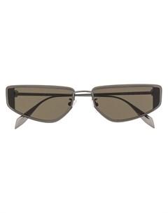 Солнцезащитные очки в прямоугольной оправе Alexander mcqueen eyewear