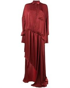 Асимметричное платье рубашка Esteban cortazar