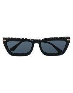Солнцезащитные очки в прямоугольной оправе Jimmy choo eyewear