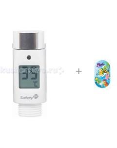 Термометр для воды электронный и Коврик Pondo Kids для ванны Дракоши 69х39 Safety 1st