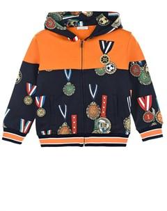 Спортивная куртка с принтом медали детская Dolce&gabbana