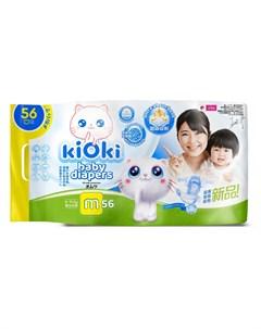Детские подгузники M 6 11кг на липучках 56шт Kioki