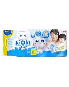 Детские подгузники L 12 кг на липучках 44шт Kioki