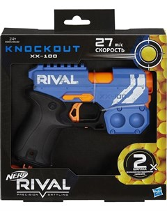 Игровой набор Бластер Нёрф Райвл Нокаут синий Hasbro