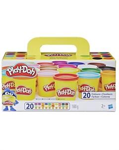 Игровой набор Комплект суперцветов 20 банок Play-doh