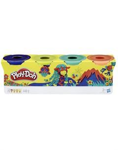 Игровой набор 4 баночки дикие цвета Play-doh