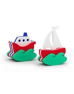 Игрушка конструктор для купания Кораблик Парусник El'basco toys