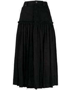 Джинсовая юбка с плиссировкой Y's
