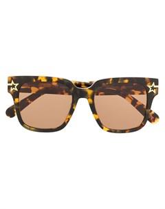Солнцезащитные очки в массивной оправе черепаховой расцветки Stella mccartney eyewear