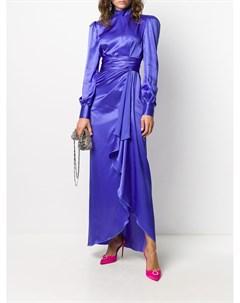 Платье с длинными рукавами и драпировкой Alessandra rich