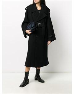 Длинное двубортное пальто Y's