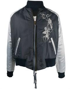 Куртка бомбер California с вышивкой Greg lauren