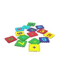 Игровой коврик мягкий пол Математика 25x25 см 15 деталей Eco cover