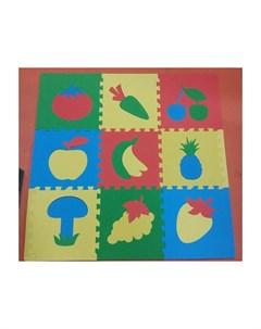 Игровой коврик мягкий пол Сад Огород 30x30 см 9 деталей Eco cover