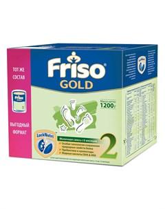 Сухая адаптированная последующая молочная смесь Gold 2 1200гр Friso