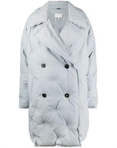 Стеганое двубортное пальто Maison margiela