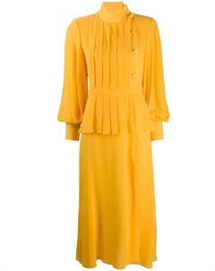 Многослойное платье со складками Alessandra rich