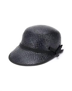 Соломенная шляпа с контрастной отделкой Douuod kids