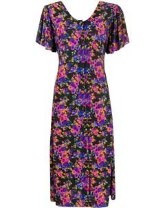 Платье миди Camelia с цветочным принтом Vetements