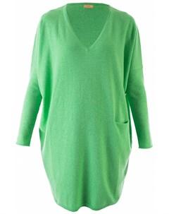 Яркое платье с V образным вырезом Longo