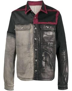 Джинсовая куртка с принтом и вставками Rick owens drkshdw