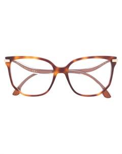 Очки в массивной оправе Jimmy choo eyewear