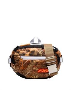 Дутая сумка через плечо CTNMB с камуфляжным принтом Heron preston