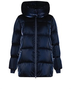 Синее стеганое пальто с капюшоном Freedomday