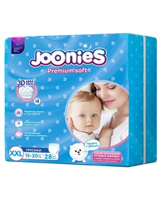 Подгузники трусики Premium Soft размер XXL 15 20кг 28шт Joonies