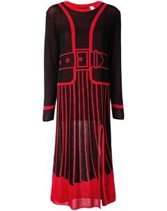 Платье вязки интарсия с длинными рукавами Maison mihara yasuhiro