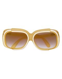 массивные солнцезащитные очки pre owned Christian dior