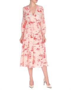 Полуприлегающее платье с V-образным вырезом Max Mara Studio Max mara studio