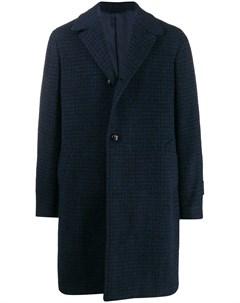 Однобортное пальто в клетку Mp  massimo piombo