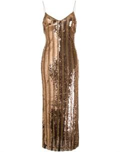 Платье комбинация с пайетками Galvan
