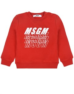 Красный свитшот с логотипом детский Msgm