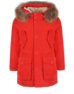 Зимняя парка красного цвета детская Freedomday