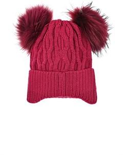 Красная шапка с двумя помпонами детская Freedomday