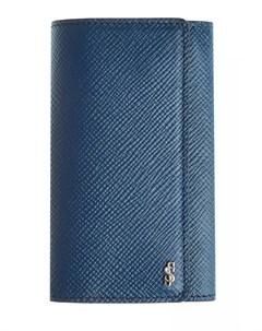 Ключница из текстурированной кожи с литым логотипом бренда Serapian