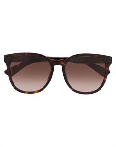 солнцезащитные очки в оправе черепаховой расцветки Moschino eyewear