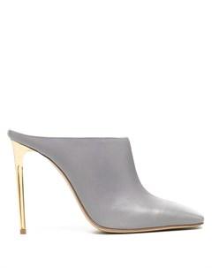 Мюли на высоком каблуке с квадратным носком Gia couture