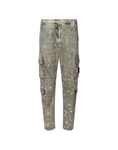 Хлопковые брюки карго Stone island