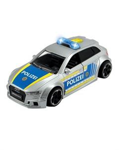 Полицейская машинка Audi RS3 фрикционная с аксессуарами 15 см Dickie toys