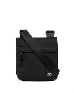 сумка на плечо с нашивкой логотипом Emporio armani